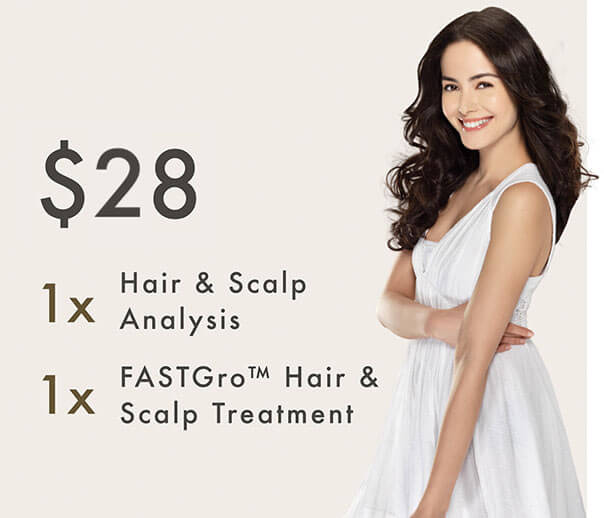 $28 Promotion - Hair & Scalp Analysis + FASTGro Hair & Scalp Treatment